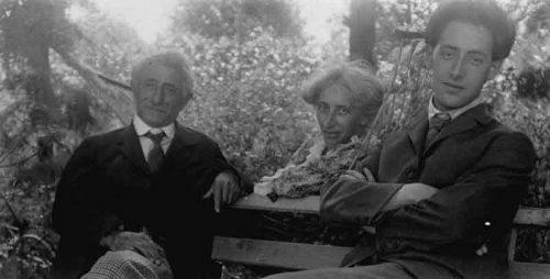 فریتز کان با خانوادهاش، ۱۹۱۴، برلین