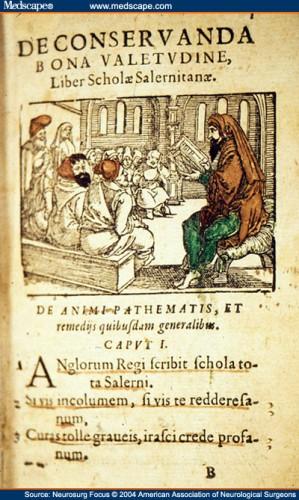 کنستانتین در حال درس گفتن در سالرنو